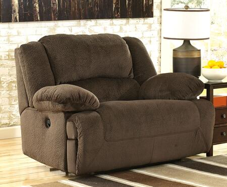 Signature Design by Ashley Toletta 56701X2 Zero Wall Wide Seat X Recliner with Thick Bustle Back Design, Pillow Padded Arms and in Metal Drop-In Unitized Seat Box in Chocolate