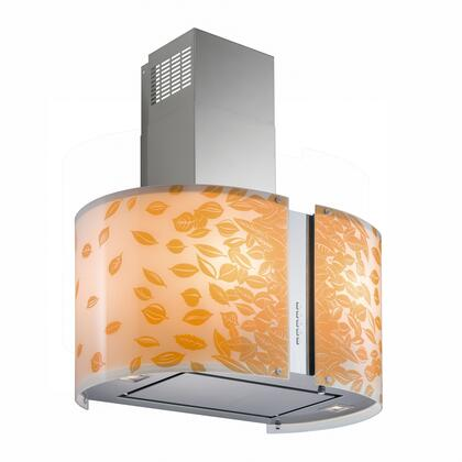 Futuro Futuro ISMURAUTUMNLED Murano Autumn Island Mount Chimney Style Range Hood with 940 CFM Internal Blower, LED Lights, Dishwasher-safe Mesh Filter, and Delay Shut-Off Timer, in Stainless Steel
