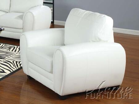 Acme Furniture 15227 Amber Series Bonded Leather with Wood Frame in White