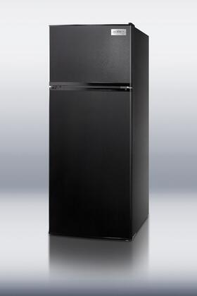 "Summit FF1112BLIM24"" Freestanding Top Freezer Refrigerator with 10.3 cu. ft. Total Capacity 2 Wire Shelves"