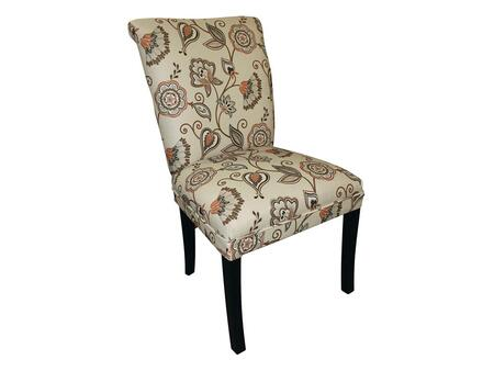Stein World 12136 Armless Fabric Wood Frame Accent Chair