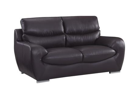 Global Furniture USA 2219RVL Leather  with Metal Frame Loveseat