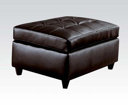 Acme Furniture 15202 Milano Series Contemporary Bonded Leather Wood Frame Ottoman