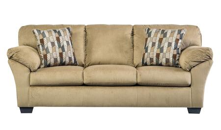 Benchcraft Aluria 1820X38 Sofa with Padded Arms, 2 Pillows Included, and Textured Fabric Upholstery in