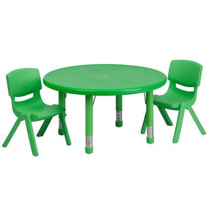 Flash Furniture YUYCX00732ROUNDTBLGREENRGG