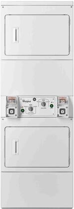 "Whirlpool CSP286 27"" Commercial X Dryer with 7.4 cu. ft. Capacity per Drum, 3 Cycles, Heavy Duty, Dual Metercase and Fabric Protection Cool-Down Care, in White"