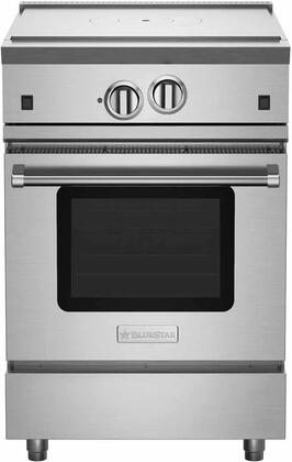 """BlueStar RNB24FTV2X RNB Series 24"""" Freestanding All French Top Gas Range with Convection Oven, Ceramic Infra-Red Broiler, Interior Oven Light and Stainless Steel Drip Trays"""