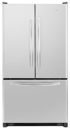 Amana AFD2535FES  French Door Refrigerator with 24.8 cu. ft. Total Capacity 4 Glass Shelves