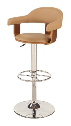 "Chintaly 1386-AS- 42"" Stool with Chrome Pedestal Base, Pneumatic Gas Lift and PU Upholstery in"