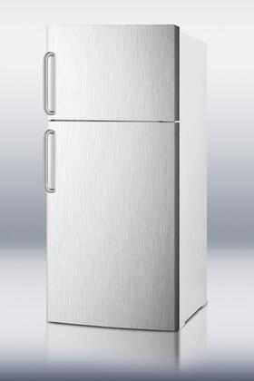 Summit FF1620WSSTBIM Freestanding Counter Depth Top Freezer Refrigerator with 15.8 cu. ft. Total Capacity 2 Glass Shelves