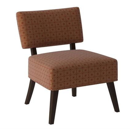 Acme Furniture 59393 Able Series Slipper Fabric Wood Frame Accent Chair