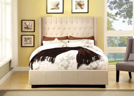 Furniture of America CM7055IVEKBED Mira II Series  Eastern King Size Bed