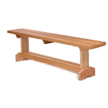 All Things Cedar MB70U Traditional Cedar Frame Armless Patio Benches