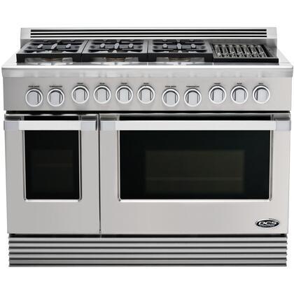 "DCS RGU486GLN 48"" Professional Series Natural Gas Freestanding |Appliances Connection"
