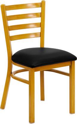 Flash Furniture FDDG694BLADNATBLKVGG Hercules Series Contemporary Vinyl Metal Frame Dining Room Chair