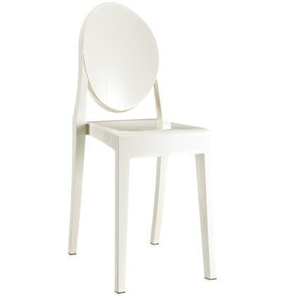 Modway EEI122WHI Casper Series Modern Not Upholstered Polyblend Frame Dining Room Chair