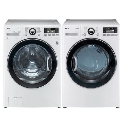 LG WM3470HWADLGX3471WPAIR TurboWash Washer and Dryer Combos