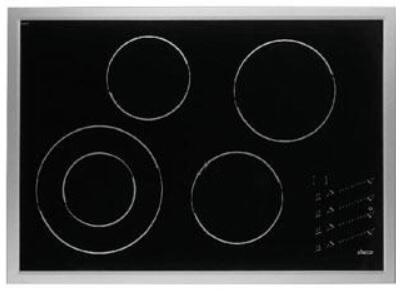 """Dacor ETT3041S 30"""" Renaissance Series Black Top with Stainless Steel Trim Electric Cooktop"""