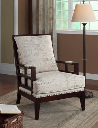 Armen Living LC2121VIFR Windsor Series  with Fabric Frame in Printed