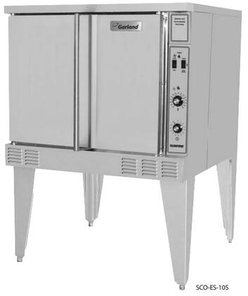 """Garland SCO-ES-10S- 38"""" Sunfire Series NSF Certified Electric Convection Oven with 53000 BTU, 60/40 Dependent Solid Door, 5 Chrome Plated Oven Racks and 2 Speed Motor Fan, in Stainless Steel"""