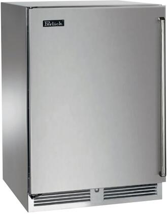 """Perlick HP24FO31xC 24"""" Signature Series Freezer with 5.2 cu. ft. Capacity, RapidCool Refrigeration System, Automatic Hot Gas Defrost, Stainless Steel Interior and Classic Handle, in Stainless Steel with"""