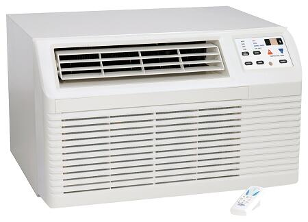 Amana PBCxx3G00CB Through-the-Wall Air Conditioner with Electronic Touchpad, Remote Control, LCD Display, 2-Fan Speeds, Energy Saver Option, 4-Way Adjustable Airflow and Slide-out Filter in White