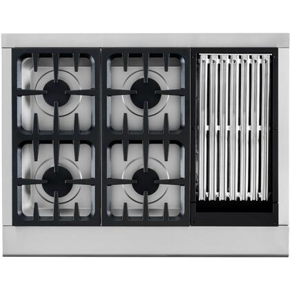 DCS CPU364GLN Rangetop Sealed Burner  4 Natural Gas Gass Cooktop |Appliances Connection