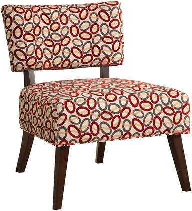 Acme Furniture 59074 Able Series Armless Fabric Wood Frame Accent Chair
