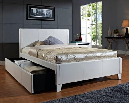 Fantasia Full Size White Bed with Trundle