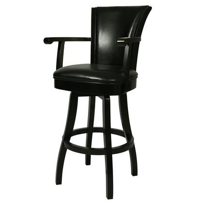 Pastel Furniture QLGL2172 Glenwood 30 in. Bar Height Swivel Barstool With Arms