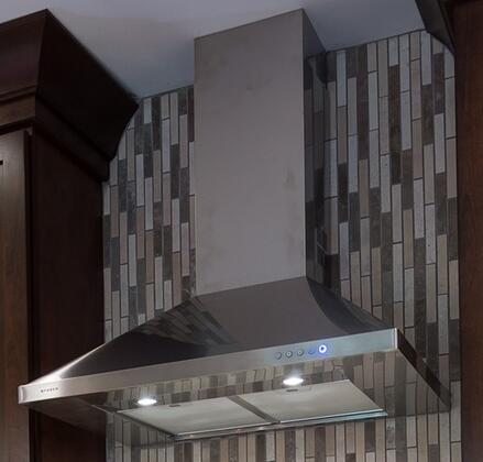 "Faber Decorative Classica CLASXXSS XX"" Chimney Wall-Mount Canopy Range Hood With 600 CFM Internal Blower, 3 Speed LED Electronic Controls, 2 Halogen Lights, In Stainless Steel"