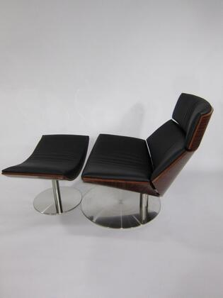 Fine Mod Imports FMI8003BLACK modern/contemporary Leather Chaise Lounge