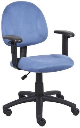 "Boss B326 35"" Microfiber Deluxe Posture Chair with Adjustable Arms, Thick Padded Seat and Back, Waterfall Seat, Adjustable Back Depth, Seat Height Adjustment and 5 Star Nylon Base"