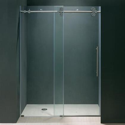 "Vigo VG6041XXCL6074 60"" Frameless Shower Door 3/8"" Clear Glass with X Hardware"