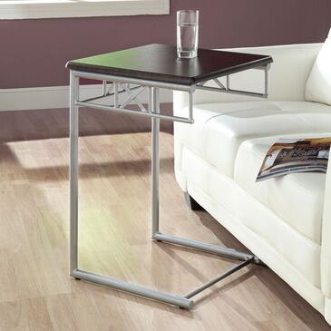 Monarch I 30X3 Snack Table, with Silver Metal Legs, Square Top, and Contemporary Design