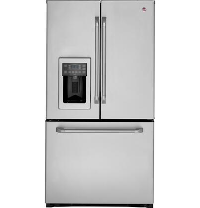 GE Cafe CFSP5RKBSS  French Door Refrigerator with 25.1 cu. ft. Total Capacity 5 Glass Shelves