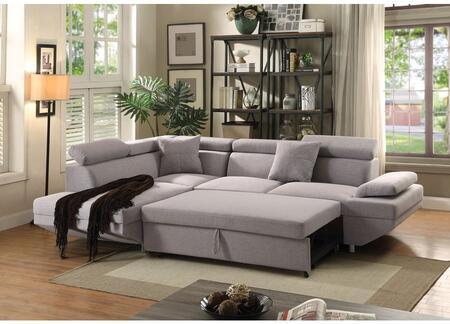 Acme Furniture Jemima Fabric Sectional Sofa 52990 Grey Appliances