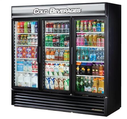 True GDM-72 Refrigerator Merchandiser with 72 Cu. Ft. Capacity, LED Lighting, and Thermal Insulated Glass Swing-Doors