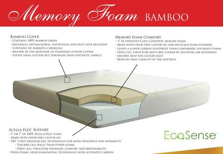 "Gold Bond 935 EcoSense Memory Foam Series 10"" High X Size Memory Foam Mattress"