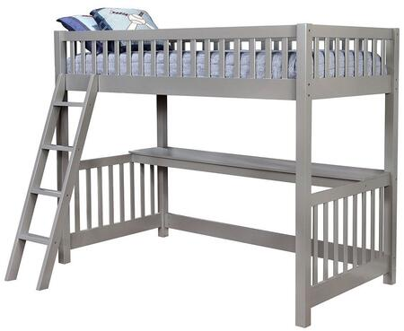 Furniture of America CMBK614BED Aiken Series  Twin Size Loft Bed