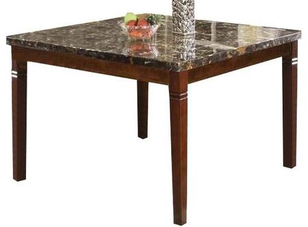 Acme Furniture Doretta Collection Table with Black Marble Top, Tapered Legs and Wood Construction in Walnut Finish