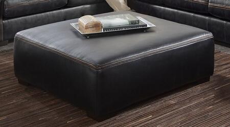 "Jackson Furniture Tucker Collection 4395-28- 48"" Cocktail Ottoman with Faux Leather Upholstery, Luggage Welt Stitching and Block Feet in"