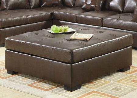 Coaster 500687 Darie Series Casual Bonded Leather Wood Frame Ottoman