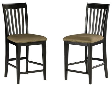 Atlantic Furniture MISSIONPCCC Mission Collection Set of 2 Pub Chairs with Cappuccino Seat Cushions:
