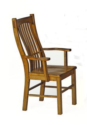 AAmerica LAURO276K Laurelhurst Series Contemporary Not Upholstered Solid Oak Frame Dining Room Chair