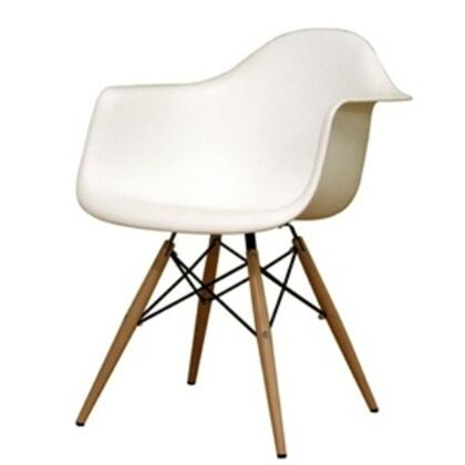 Fine Mod Imports FMI401XWHITE Dining Arm Chair, White