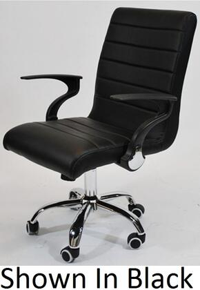 Fine Mod Imports FMI9258 Timeless Adjustable Office Chair With Chrome Plated Steel Frame, 5 Star Base with Casters & In