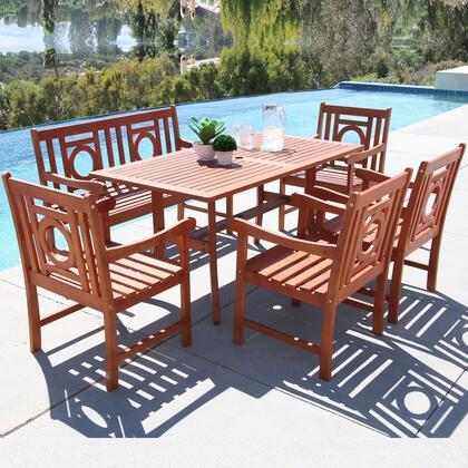 Vifah V189SET29 Rectangular Shape Patio Sets