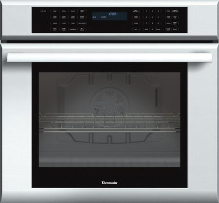 "Thermador MED301J 30"" Star-K Certified Masterpiece Series Built-In Single Electric Wall Oven With 4.7 cu. ft. Capacity, 2 Telescopic Racks, Self Clean, SoftClose Door, And Halogen Lights: Stainless Steel"