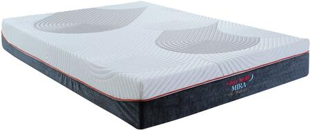 """Glory Furniture Mira Collection 10"""" Visco Memory Foam Mattress with Washable Cover in White and Dark Grey Color"""